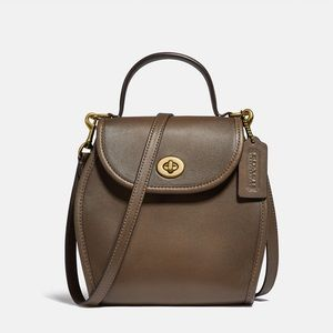 New💃Coach Turnlock Curved Top Handle Crossbody